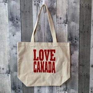 Extra Large Canvas Tote Shopper Bag Love Canada